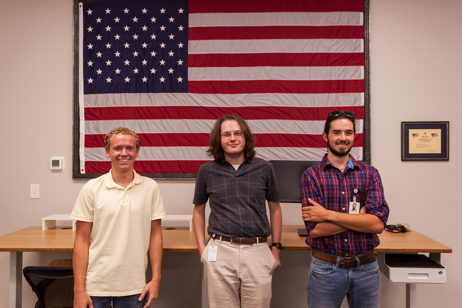 2020 Summer Interns - Left to right: Keegan, Braden, Heath