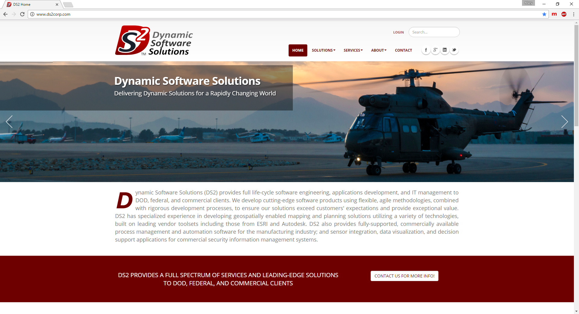 Dynamic Software Website